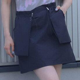 atmos pink ウエスト絞り ミニスカート TX(アトモスピンク ウエストシボリ ミニスカート TX)BLACK【レディース スカート】19SU-I