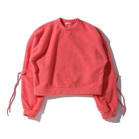 atmos pink 袖絞りボアトップス TX(アトモスピンク ソデシボリ ボアトップス TX)PNK【レディース 長袖Tシャツ】19HO-I atpss20