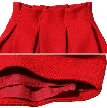 【14FW-I】LilyBrownウエストタックスカート【リリーブラウン】RED【レディース】