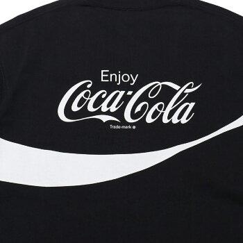 CocaColaxColumbiaxATMOSLABCSCBASICLOGOTXTSHORTSLEEVET-SHIRT(コカコーラコロンビアアトモスラボベーシックロゴショートスリーブティーシャツ)BLACK【メンズ半袖Tシャツ】20SP-S