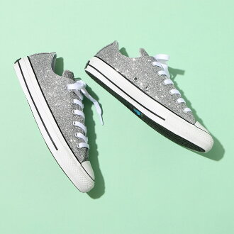 CONVERSE ALL STAR 100 GLITTERMATERIAL OX (Converse all-stars 100 グリッターマテリアルオックス) (silver) 17SP-I
