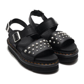 Dr.Martens Zebrilus Voss Stud Black Hydro Leather(ドクターマーチン ゼブリラス ボス)BLACK【レディース サンダル】20SS-S