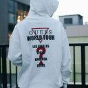GUESS × atmos MEN'S L/SLV HOODIES WORLD TOUR (ゲス × アトモス メンズ ロングスリーブ フーディー ワールドツアー) (アイボリー)1…