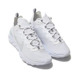 NIKE REACT ELEMENT 55 SE SU19 (ナイキ リアクト エレメント 55 SE)WHITE/PURE PLATINUM【メンズ レディース スニーカー】19FA-I atp21ssl