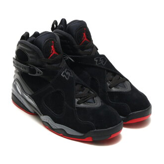 NIKE AIR JORDAN 8 RETRO (nostalgic Nike Air Jordan 8) BLACK/GYM RED-BLACK-WOLF GREY 17FA-S