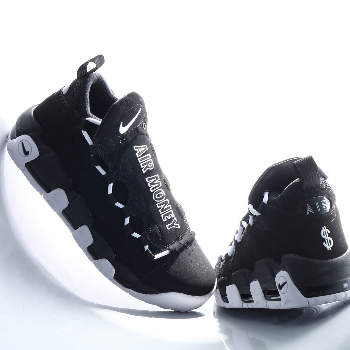 NIKE AIR MORE MONEY(ナイキ エア モア マネー)(BLACK/WHITE-BLACK)18SP-S