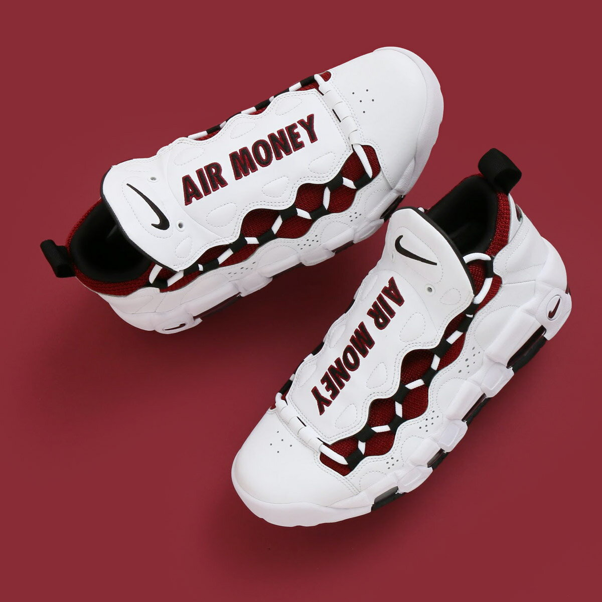 NIKE AIR MORE MONEY (ナイキ エア モア マネー) WHITE/BLACK-TEAM RED【メンズ スニーカー】18SP-S