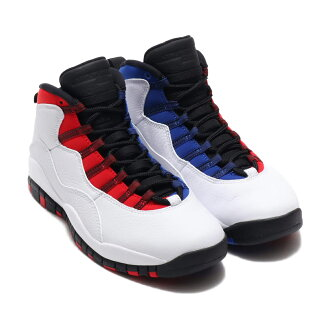 wholesale dealer 034ac a2605 NIKE AIR JORDAN 10 RETRO(耐吉空氣喬丹10重新流行)(WHITE/BLACK-UNIVERSITY RED-HYPER  ROYAL)18SP-S