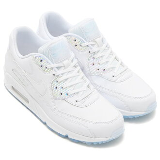 NIKE WMNS AIR MAX 90 PREM (나이키 여자에 어 맥스 90 프리미엄) WHITE/WHITE-BLUE TINT 16FA-I