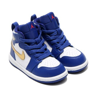 NIKE JORDAN 1 RETRO HIGH BT (Nike Jordan 1 retro Hi BT) DEEP ROYAL BLUE/MTLC GOLD COIN-WHITE-INFRARED 23 16FA-I