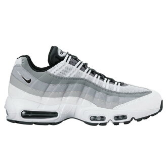NIKE AIR MAX 95 ESSENTIAL (Nike Air Max 95 essential) (WHITE/BLACK-WOLF GREY-COOL GREY) 17 SP-I