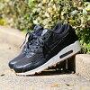 NIKE WMNS AIR MAX 90 PRM LEA (Nike women Air Max 90 premium leather) (BLACK/BLACK-DARK GREY-IVORY) 17SU-S