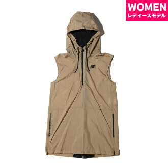 NIKE AS W NSW TCH HPRMSH VEST (the Nike women technical center hyper mesh best) (KHAKI/BLACK/BLACK) 17SU-S