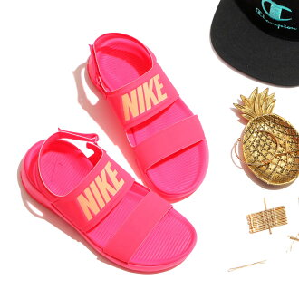 NIKE WMNS TANJUN SANDAL (Nike women tongue Jun sandals) RACER PINK/SUNSET GLOW 17SU-I