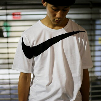 NIKE AS M NSW TEE DRPTL OVRSZ SWSH (ナイキドロップテールオーバーサイズスウッシュ T-shirt) WHITE/BLACK 17FA-I