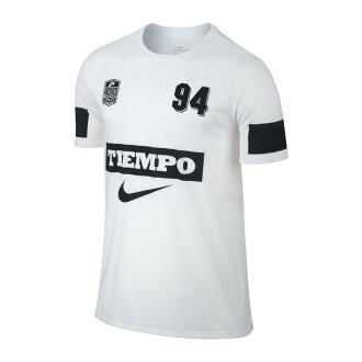 NIKE AS M NK TEE TIEMPO 94 (Nike TIEMPO 94 S/S T-shirt) WHITE 17FA-I