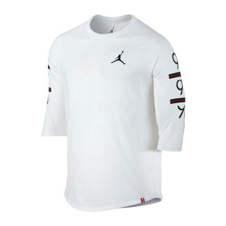 NIKE 6 TIMES 3/4 RAGLAN (the Jordan 6 TIMES 3/4 raglan sleeves top) WHITE/BLACK 17FA-I