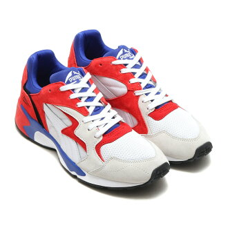 PUMA PREVAIL STREETBLOCK(彪马之前保释街道块)(PUMA WHITE-HIGH RISK RED-SUR)17SS-I