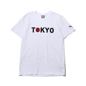d396642e71ad9 PUMA RE)CITY TEE TK(プーマ RE)シティー ティーシャツ)WHITE【