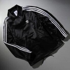 adidas SATIN COACH JACKET(アディダス サテン コーチ ジャケット)BLACK【メンズ ジャケット】19FW-S