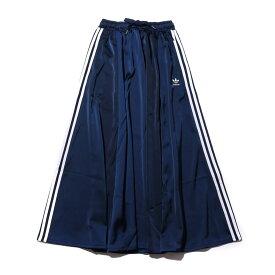 adidas LONG SATIN SKIRT(アディダス ロング サテン スカート)COLLEAGE NAVY【レディース スカート】19FW-I