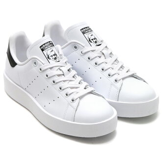 Adidas Originals STAN SMITH BOLD W (아디다스 스탠 스미스 オリジナルス 대머리 여자) RUNNING WHITE/RUNNING WHITE/BLACK CORE 16SS-I