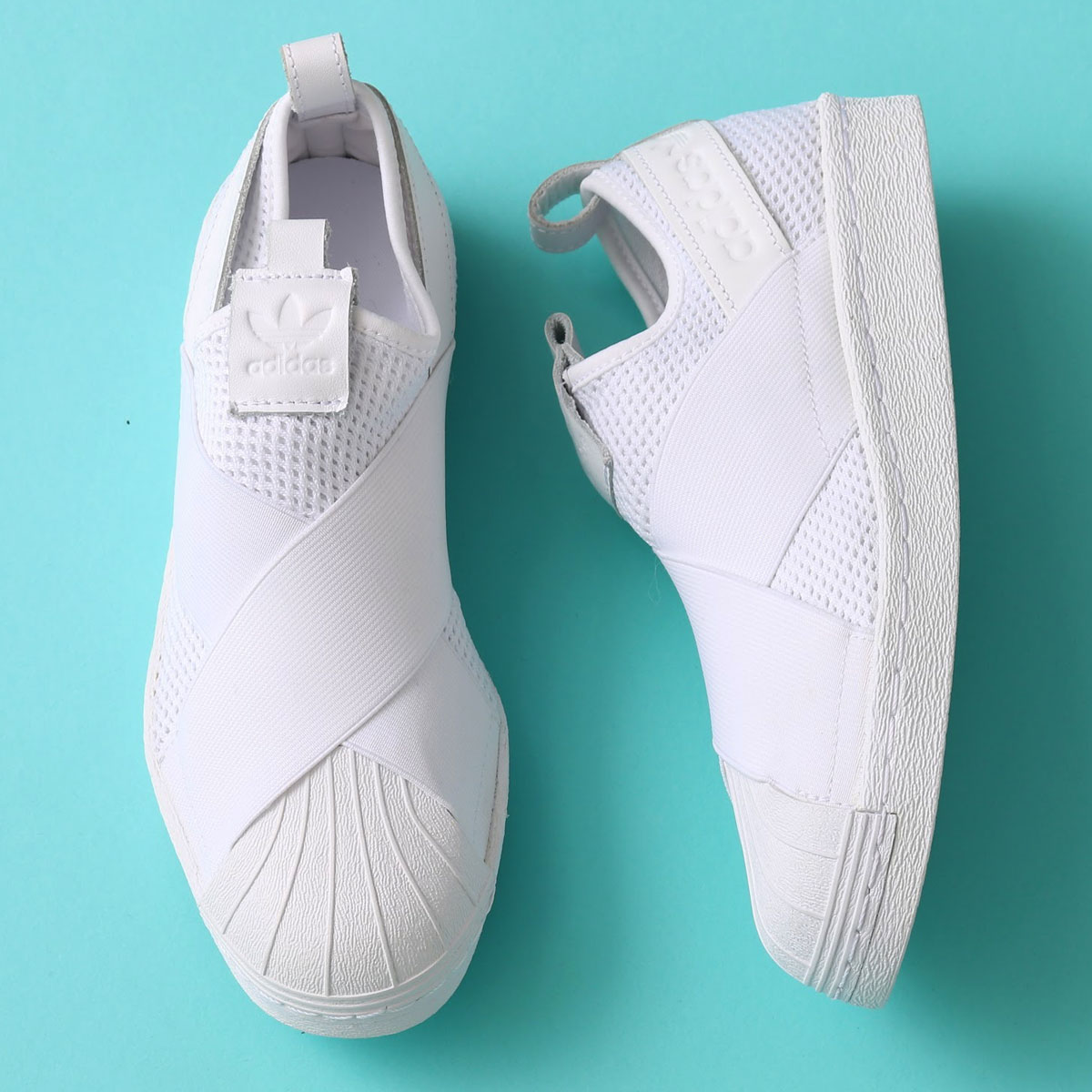 adidas Originals SUPERSTAR SlipOn W (アディダス オリジナルス スーパースター スリッポン W)(Running White/Running White/Core Black) 【メンズ レディース スニーカー】17SS-I