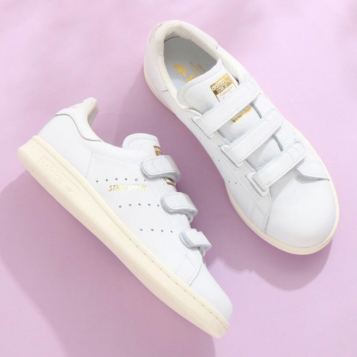 adidas Originals STAN SMITH CF(アディダス オリジナルス スタンスミス CF)Running White/Running White/Gold Met【レディース スニーカー】18SS-I