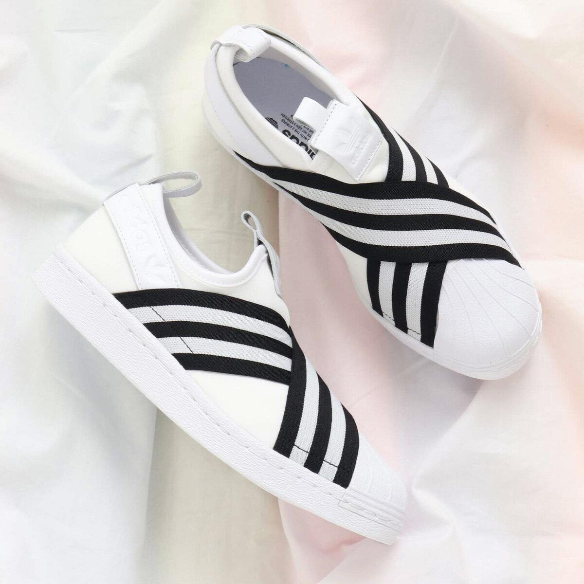 adidas Originals SUPERSTAR SLIPON W(アディダス オリジナルス スーパースタースリッポン W)Running White/Running White/Core Black【メンズ レディース スニーカー】18SS-I