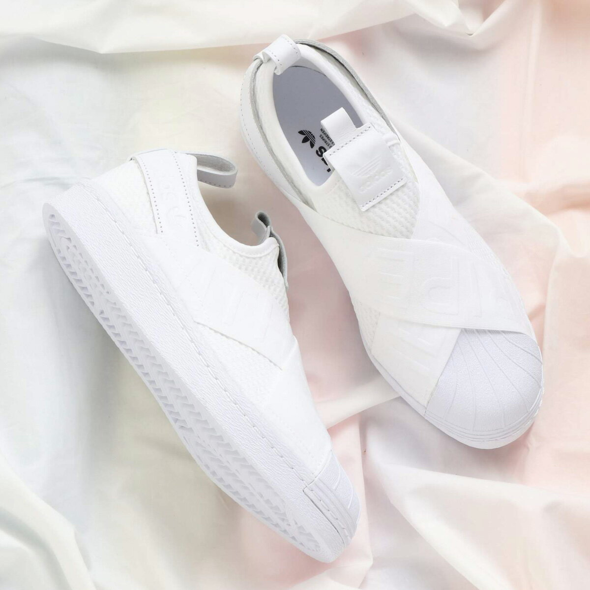 adidas Originals SUPERSTAR SLIPON W (アディダス オリジナルス スーパースタースリッポン W) Running White/Running White/Core Black【レディース スニーカー】18SS-I