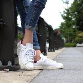 adidas Originals Stan Smith W(アディダス オリジナルス スタンスミスW)Running White/Running White/Collegeate Burgundy【メンズ レディース スニーカー】18FW-I