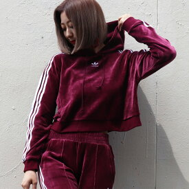 adidas Originals CROPPED HOODIE(アディダス オリジナルス クロップドフーディー)MAROON【レディース パーカー】18FW-I