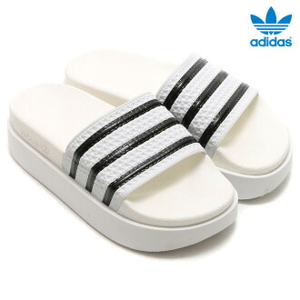 adidas Originals ADILETTE BOLD W(阿迪达斯原始物阿迪莱塔粗体字妇女)RUNNING WHITE/RUNNING WHITE/CORE BLACK 16SS-I