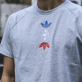adidas REF/MET TEE(アディダス Tシャツ)MEDIUM GRAY FEATHER/LUSH BLUE【メンズ 半袖Tシャツ】20SS-S