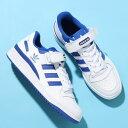 adidas FORUM LOW(アディダス フォーラム ロー)FOOTWEAR WHITE/FOOTWEAR WHITE/TEAM ROYAL BLUE【メンズ レディース …