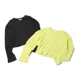 atmos pink 短丈リブ ロング Tシャツ(アトモスピンク タンタケリブ ロング Tシャツ)2色展開【レディース Tシャツ】18FA-I
