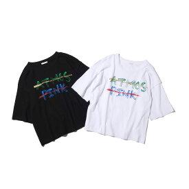 atmos pink プリント ロゴ Tシャツ(アトモスピンク プリント ロゴ Tシャツ)2色展開【レディース Tシャツ】18FA-I