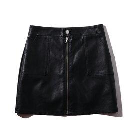 atmos pink フェイクレザー ミニスカート TX(アトモスピンク フェイクレザー ミニスカート TX)BLACK【レディース スカート】19FA-I