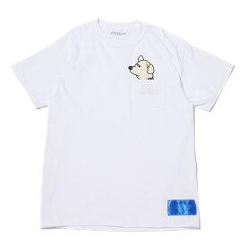 atmos atmoshachi x shibukuro POCKET T-SHIRT(アトモスハチ × シブクロ ポケット Tシャツ)WHITE【メンズ 半袖Tシャツ】20SU-I