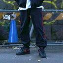 ATMOS LAB NYLON TRACK LINE PANTS (アトモスラボ ナイロン トラック ライン パンツ) BLACK/RED【メンズ ナイロンパン...