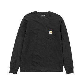 CARHARTT L/S POCKET T-SHIRT(カーハート ロングスリーブ ポケット ティーシャツ)Black【メンズ レディース Tシャツ】18FW-I
