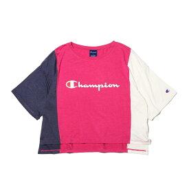 Champion CROPPED T-SHIRT (チャンピオン クロップド シャツ)ラズベリー【レディース 半袖Tシャツ】19SP-I