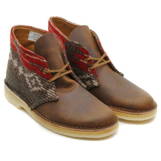 CLARKS DESERT BOOTS(克拉克甜点长筒靴)WOOLRICH WOOL/BEESWAX LEATHER 13FW-U