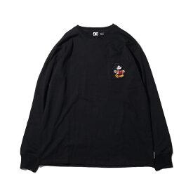 DC SHOES 19 MICKEY HAS BOARD POCKET LS(ディーシー シューズ ミッキーハズボード ロングスリーブ)BLACK【メンズ 長袖Tシャツ】19FW-I