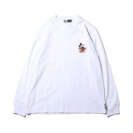 DC SHOES 19 MICKEY HAS BOARD POCKET LS(ディーシー シューズ ミッキーハズボード ロングスリーブ)WHITE【メンズ 長袖Tシャツ】19FW-I