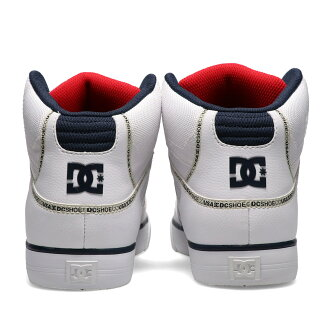 DC SHOES PURE HIGH-TOP WC TX SE(ディーシーシューズ ピュア ハイトップ WC TX SE)WHITE/NAVY/RED【メンズ レディース スニーカー】21SS-I