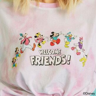 GUESSS/SLVTEESHIRT(ゲスミッキーハンソデTシャツ)PINK【メンズ半袖Tシャツ】21SS-I
