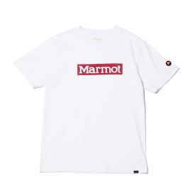 Marmot SQUARE LOGO H/S CREW(マーモット スクエア ロゴ エイチエス クルー)WHITE【メンズ 半袖Tシャツ】20SP-I at20-c