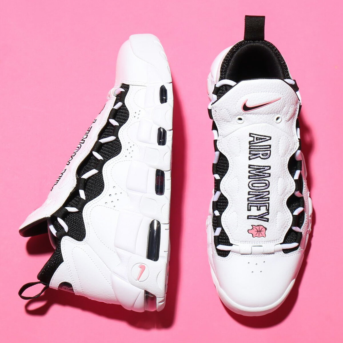 NIKE AIR MORE MONEY (ナイキ エア モア マネー) WHITE/BLACK-CORAL CHALK-WHITE【メンズ スニーカー】18SU-S