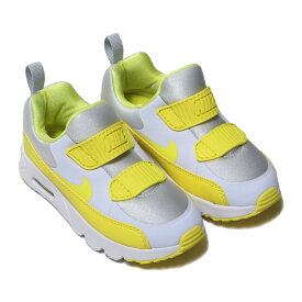 NIKE AIR MAX TINY 90 (PS)(ナイキ エア マックス タイニー 90 PS)FOOTBALL GREY/DYNAMIC YELLOW-WHITE【キッズ スニーカー】18FA-I